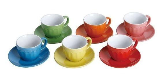 Jogo de Xícaras de Chá Linha Colors com 6 Peças Class Home
