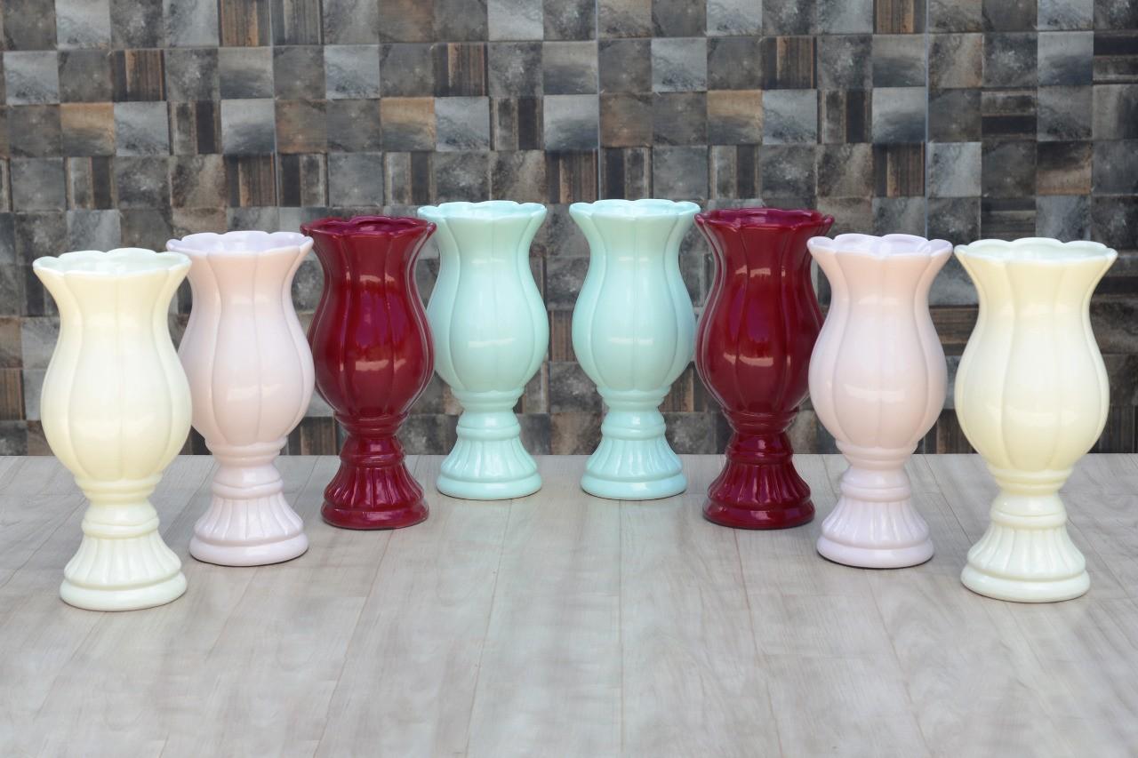 Kit Cerâmica para Festas  8 Vasos para arranjos - Eventos e Decoradores