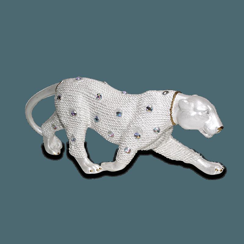 Leopardo Andando Gesso Perolizado