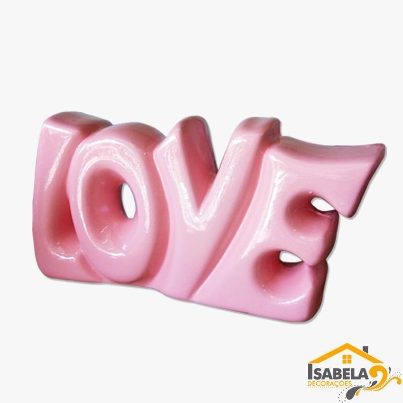 Palavra LOVE em Cerâmica