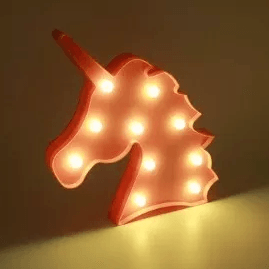Luminária Unicórnio Rosa Em Led