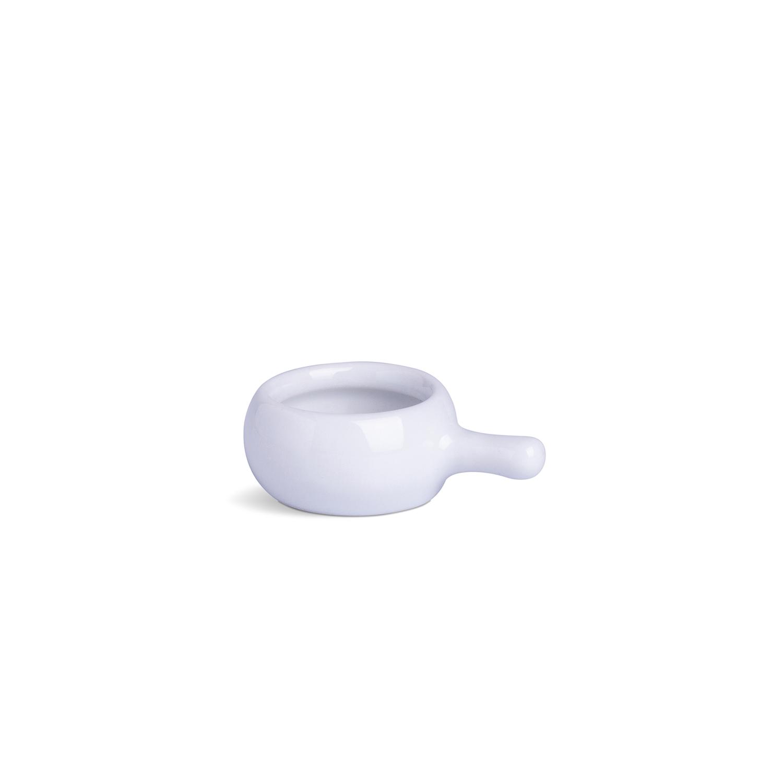 Manteigueira Gourmet Com Cabo Branca Porcelana 3 x 6 x 8 cm