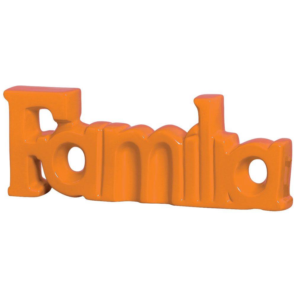 Palavra Decorativa Familia em Cerâmica Linha Vanguarda 15x40 cm