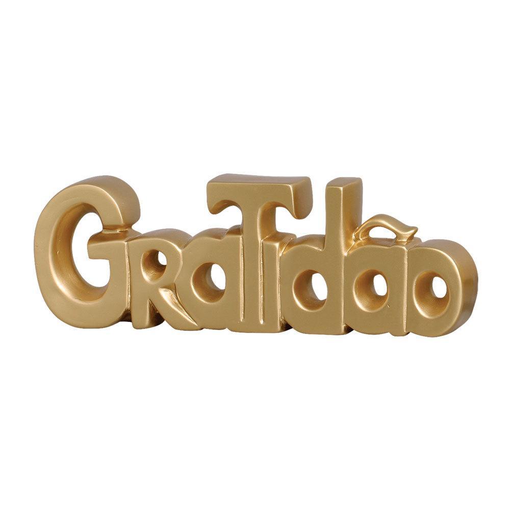 Palavra Decorativa Gratidão Para Seu Quarto