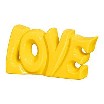 Palavra Love Decorativa na Cor Amarela