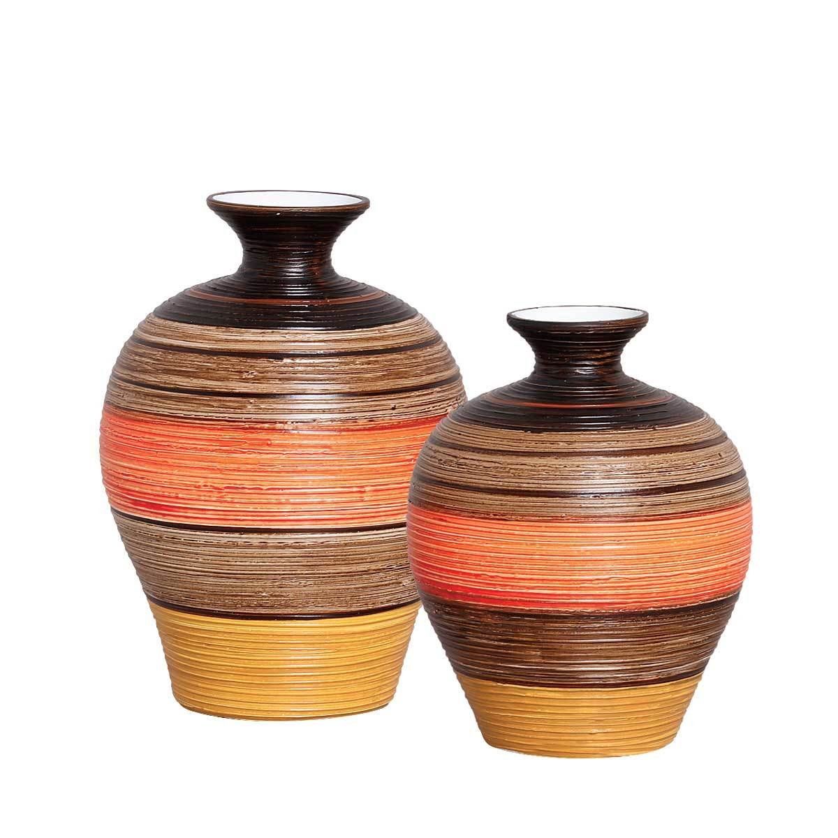 Par de Vasos em Cerâmica Linha Vanguarda