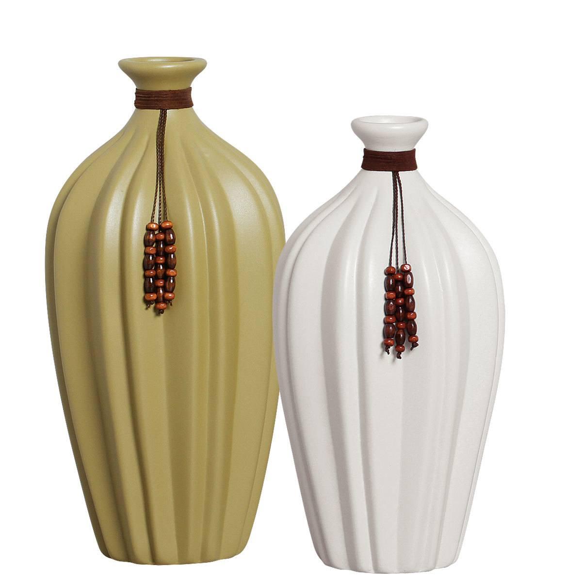 Par de Vasos em Cerâmica P/ Rack Linha Light New