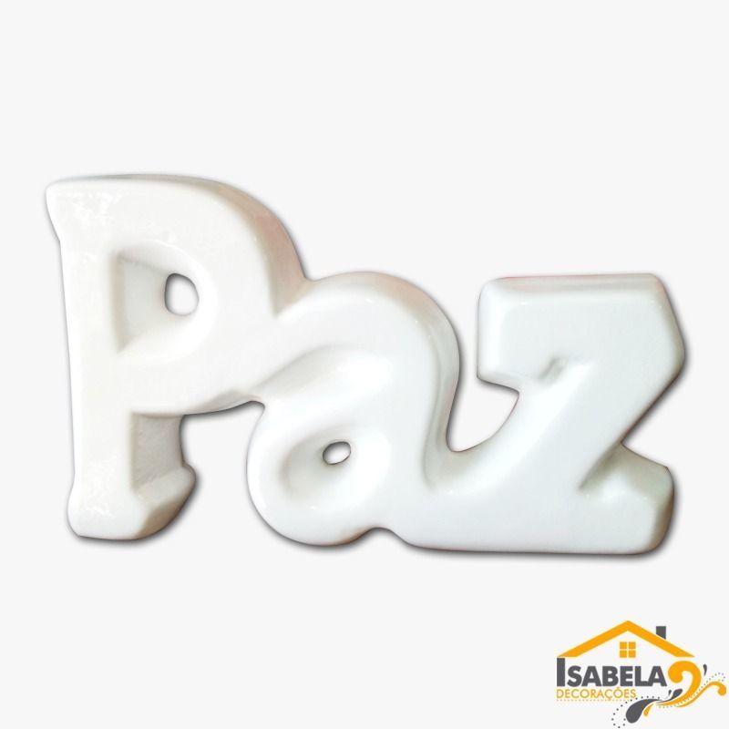 Palavra PAZ em Cerâmica para Decoração