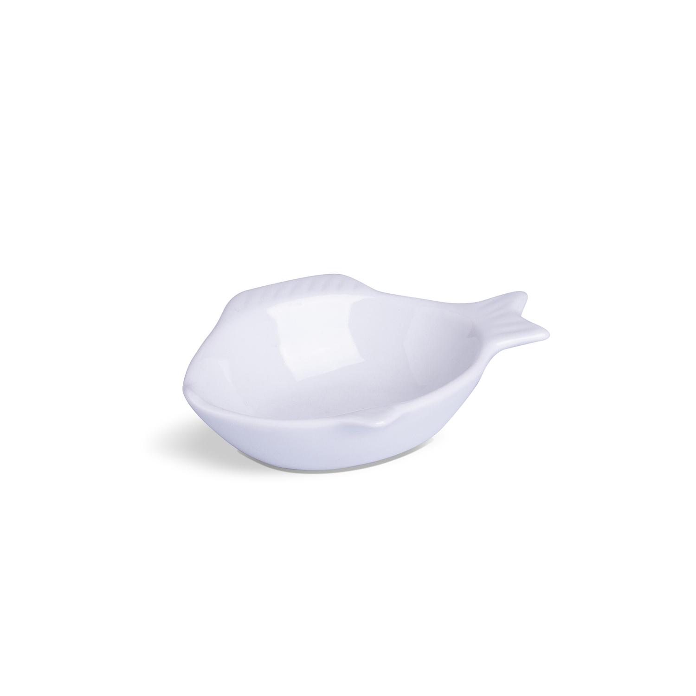 Peixinho Para Buffet Branco Porcelana 3 x 9 x 12 cm