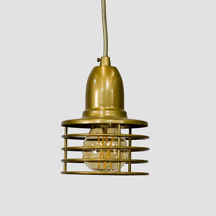 Pendente Industrial Dourado | PD-104-1D