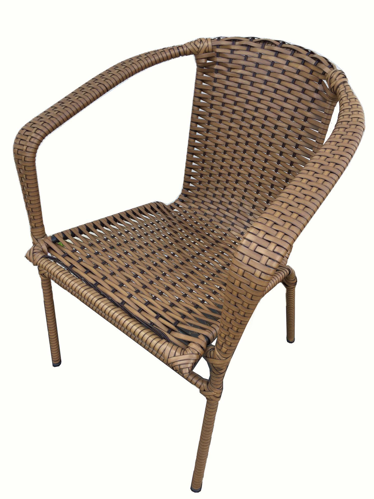 Poltrona / Cadeira em Junco, Fibra Sintética para Varanda Mix Interiores