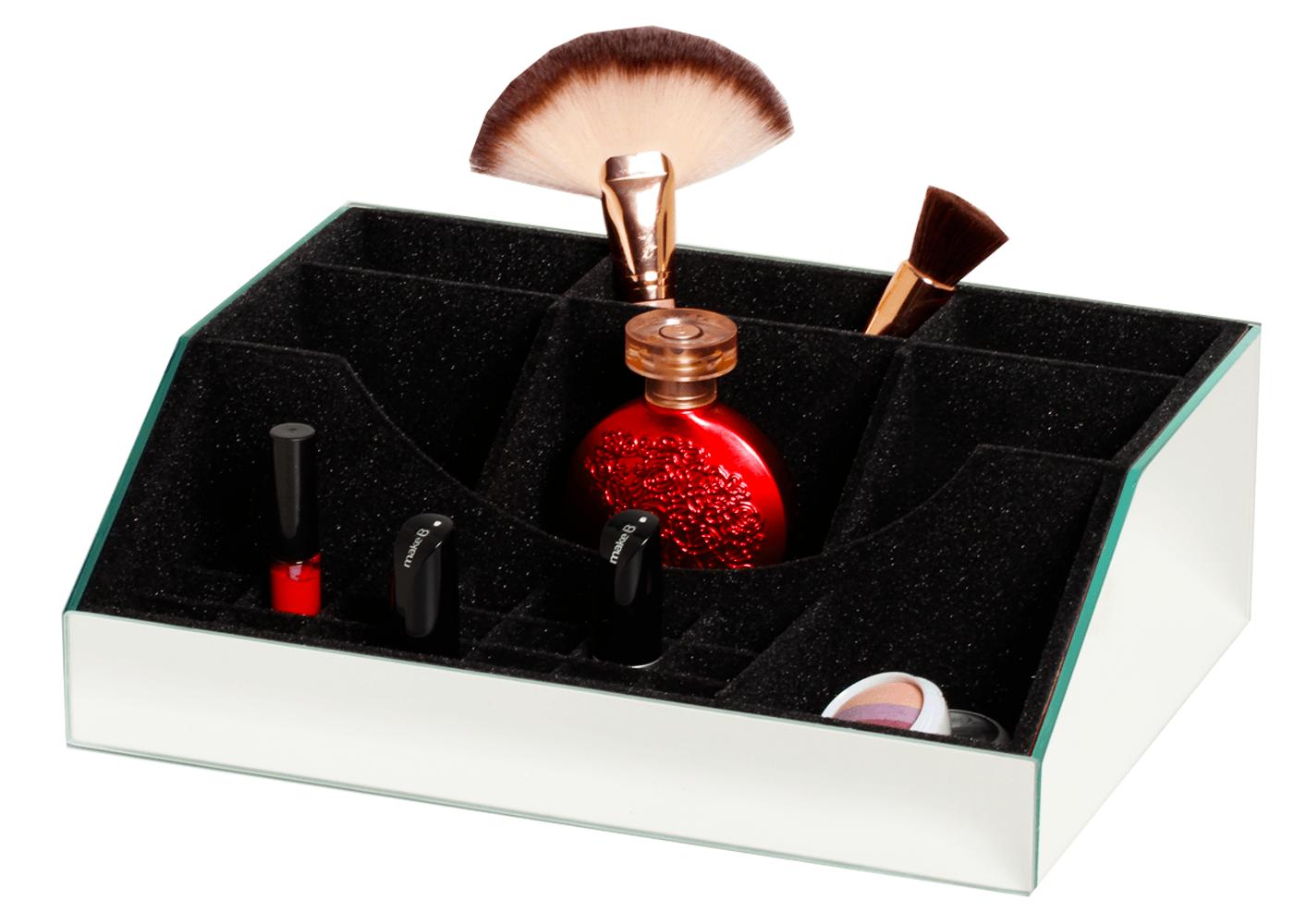 Porta Make Espelhado Organizador De Maquiagem Estojo De Make