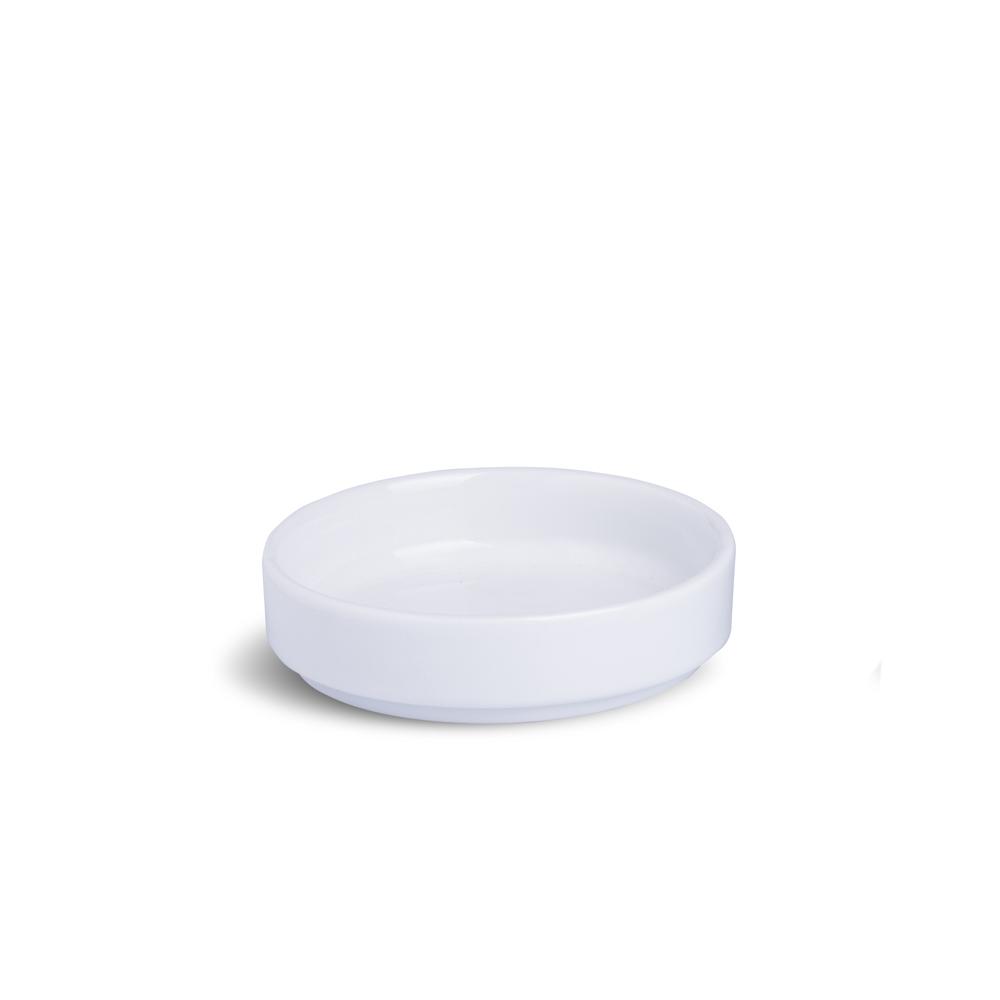 Porta Patê Sem Cabo Médio Branco Porcelana 10 x 10 x 4 cm