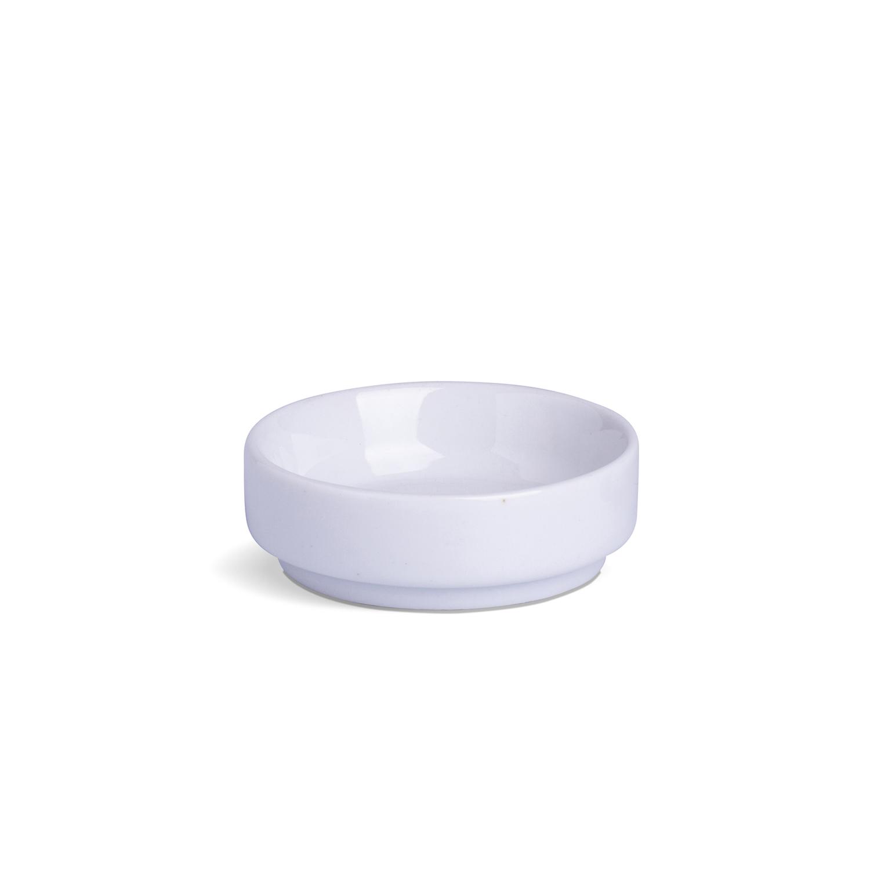 Porta Patê Sem Cabo Pequeno Branco Porcelana 8,5 x 8,5 x 3 cm
