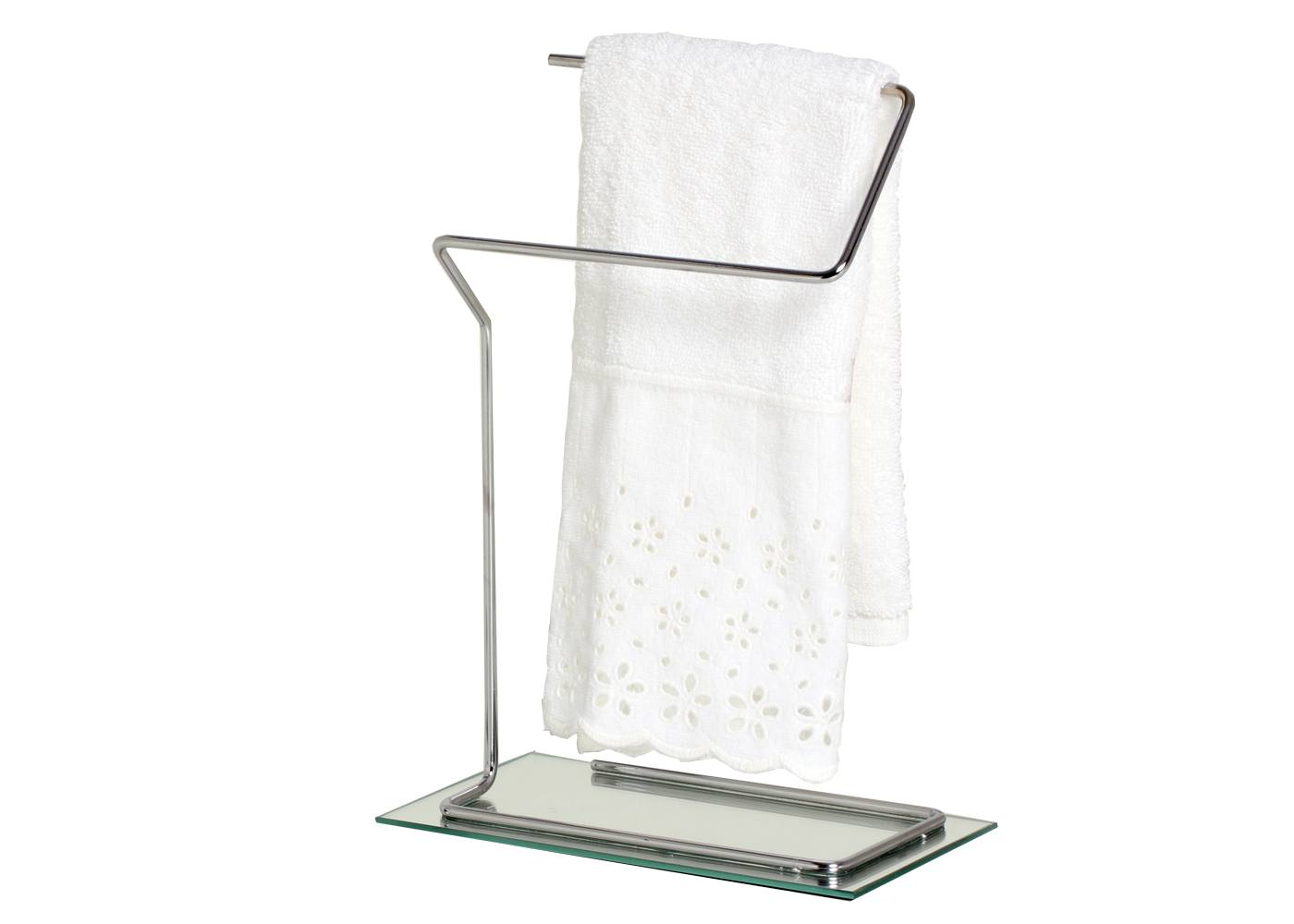 Porta Toalha  Espelhado Bancada Lavabo Toalheiro De Mão Rosto