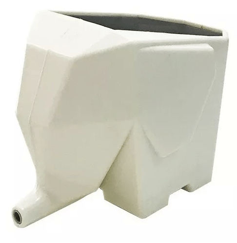 Porta Treco Elefante Multiuso Para Talheres Ou Escovas Branco