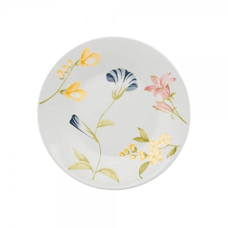 Prato de Sobremesa 19 cm Florido Linha May Oxford