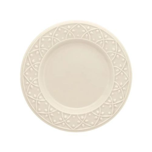Prato de Sobremesa Marfim com Relevo 20 cm Oxford