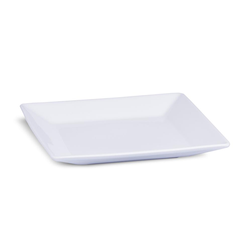 Prato Raso Branco 27 cm Linha Quartier White Porcelana Oxford