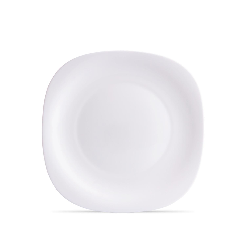 Prato Raso 31 cm Vidro Temperado Parma Branco