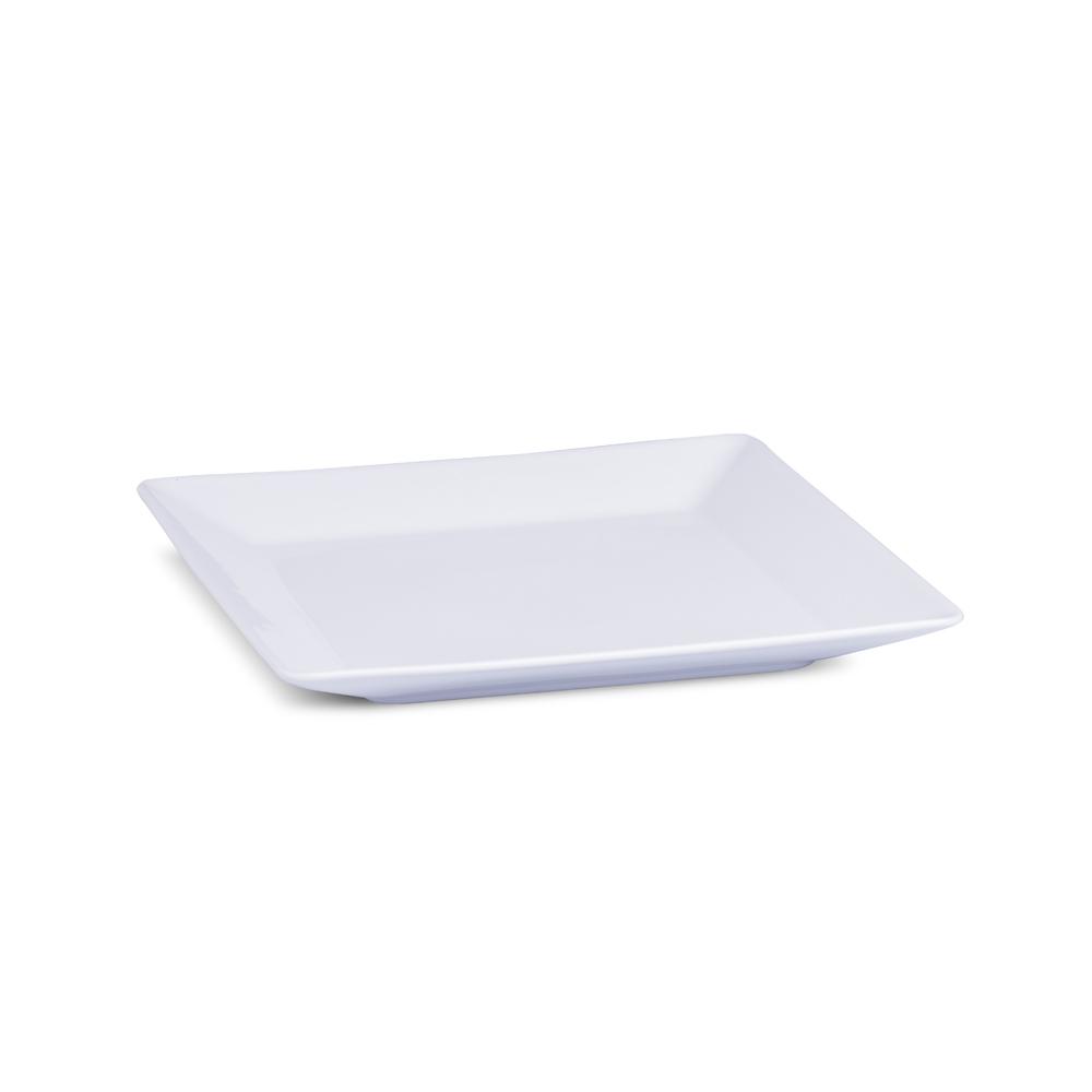 Prato Sobremesa Branco Linha Quartier 20,5 cm Porcelana Oxford