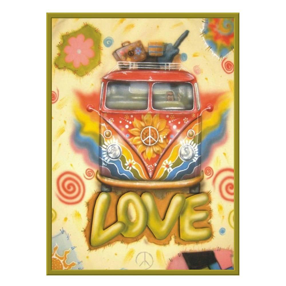 Quadro Decorativo em MDF LOVE - 15 x 20 cm