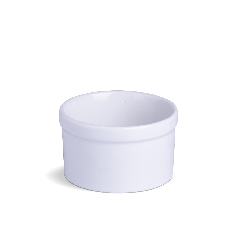 Ramekin Com Borda Liso Grande Branco Porcelana 11,5 x 11,5 x 7 cm