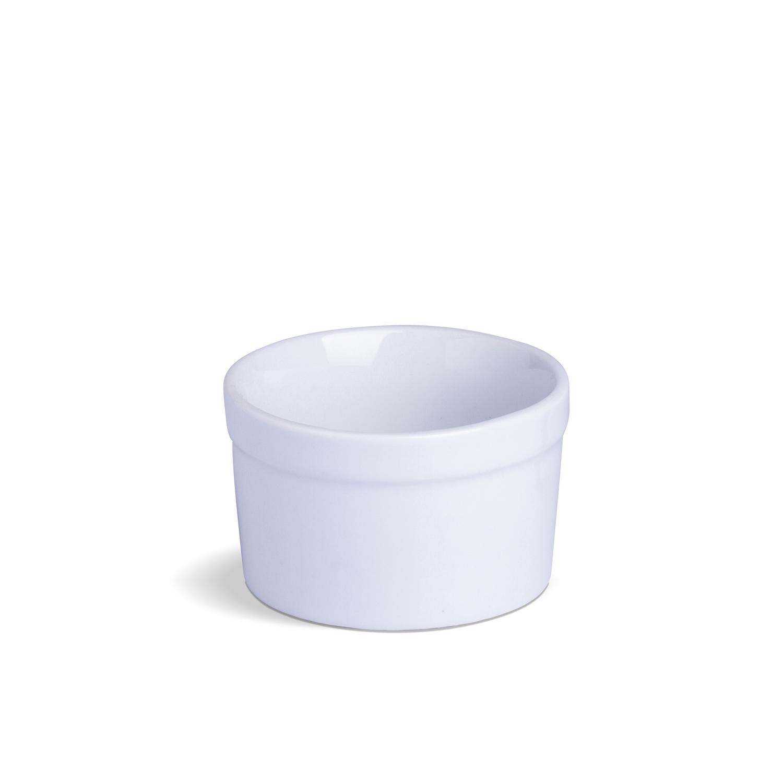 Ramekin Com Borda Liso Médio Branco Porcelana 10 x 10 x 6,5 cm