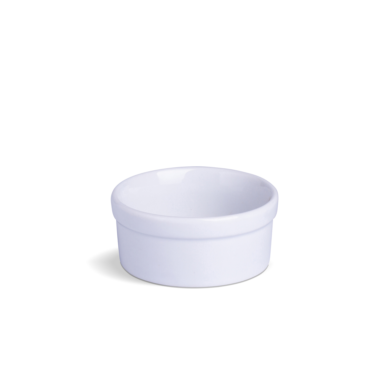 Ramekin Com Borda Liso Pequeno Branco Porcelana 10 x 10 x 5 cm
