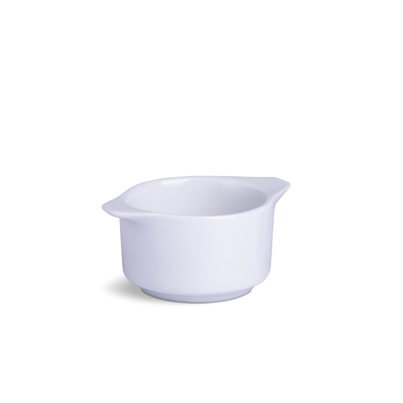 Ramekin Com Alça Liso Pequeno Branco Porcelana 9,5 x 9,5 x 5 cm