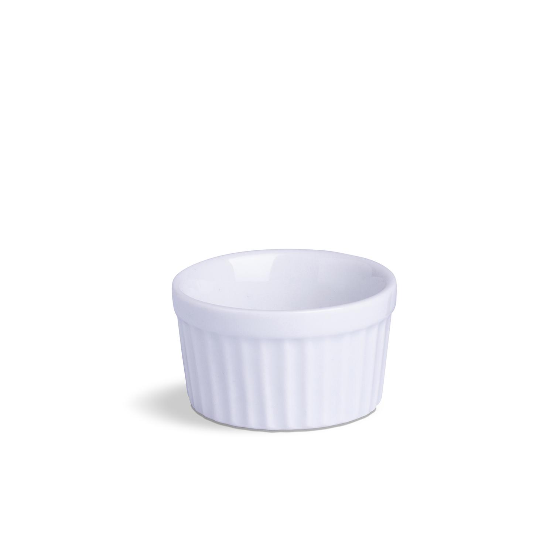 Ramekin Pequeno Branco Porcelana  90 mL 7,5 x 7,5 x 4,5 cm