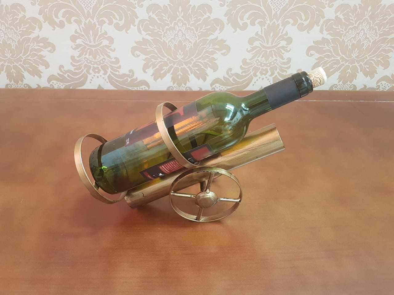 Suporte para Garrafas de vinho Canhão 23x18cm