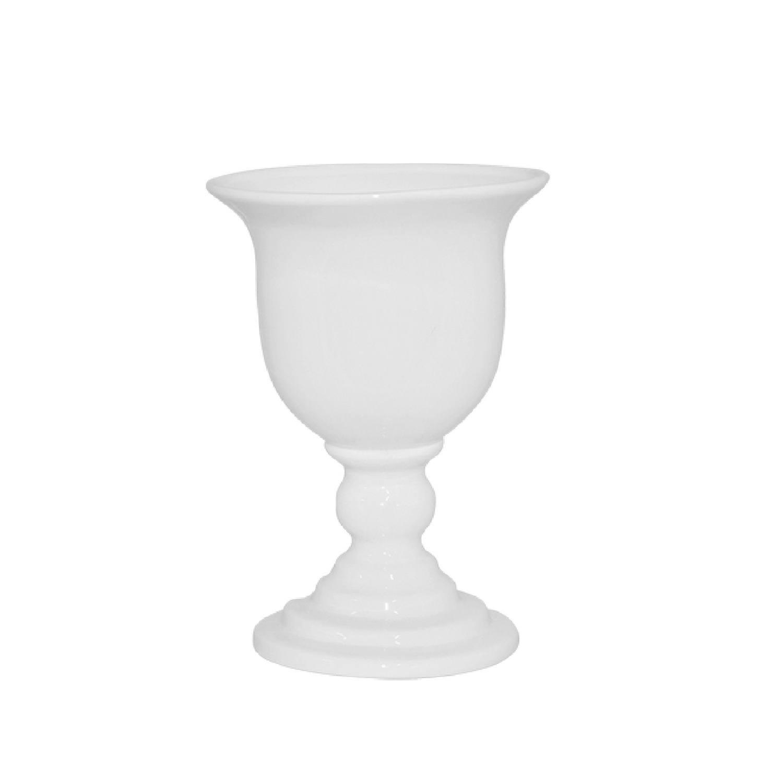 Taça Em Cerâmica Branca