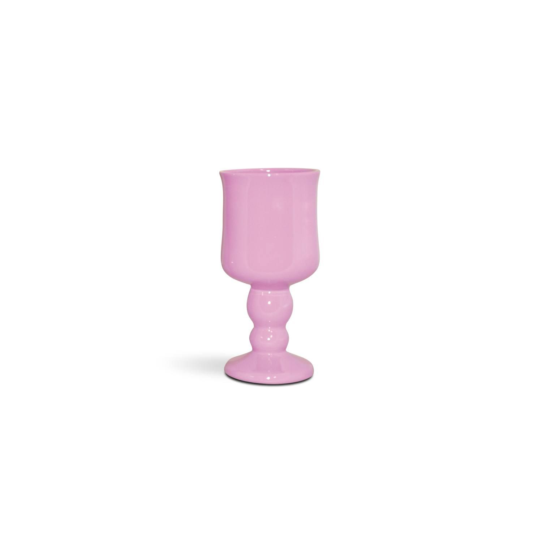 Taça Em Cerâmica Rosa Bebê