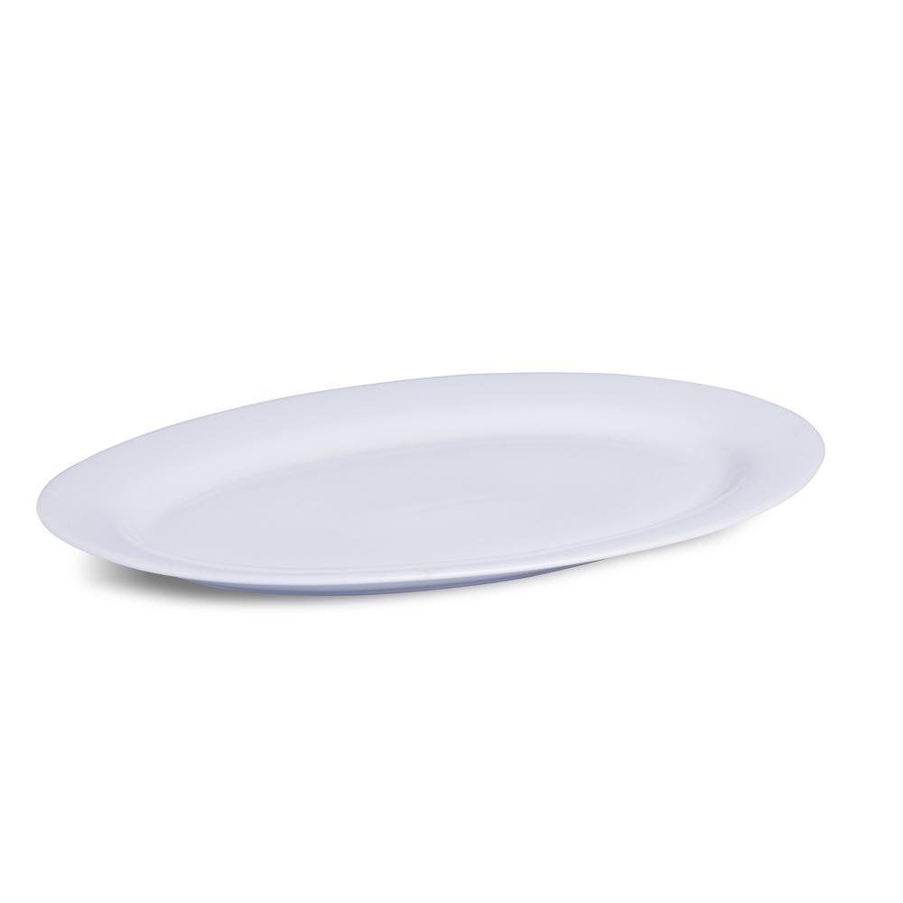 Travessa Oval Porcelana Branca 41x28x4 cm