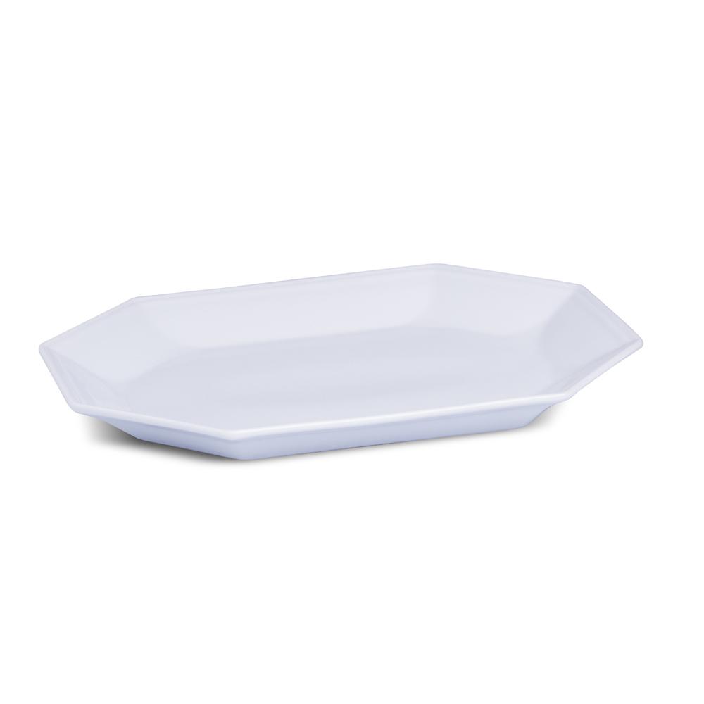 Travessa Rasa Branca 38 cm Linha Prisma Porcelana Schmidt