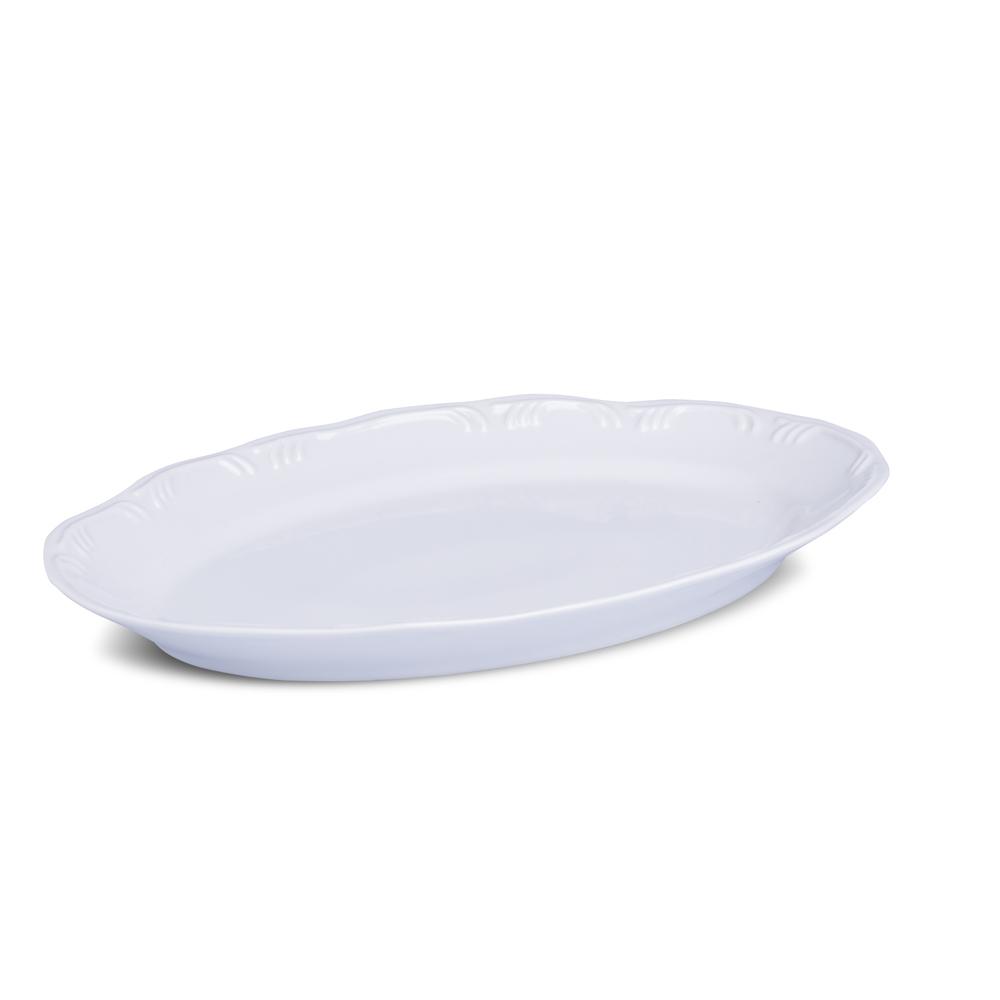 Travessa Rasa Branca 38cm Linha Pomedore Porcelana Schmidt