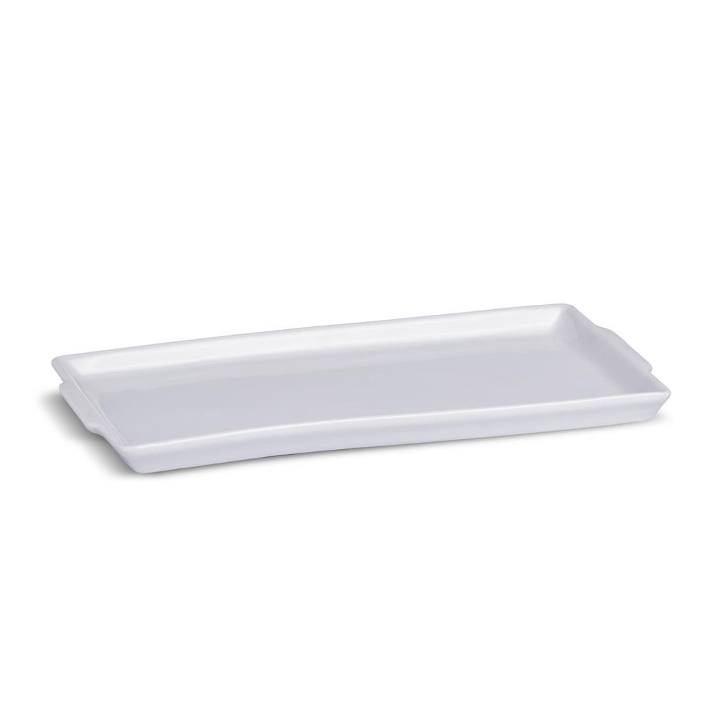 Travessa Rasa Grande 37 cm Branca Porcelana Legítima