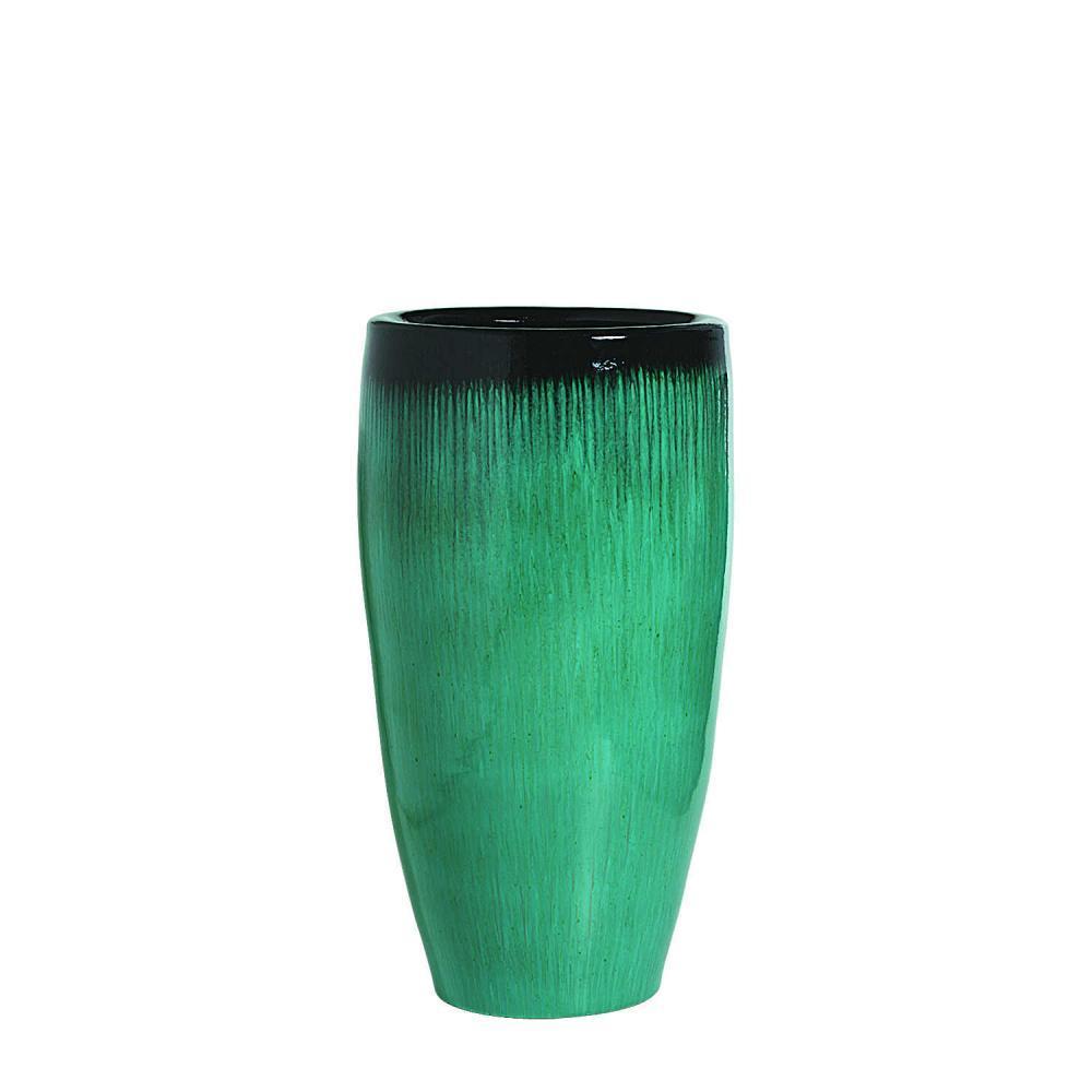 Vaso Vietnamita 80x40cm Verde Escorrido