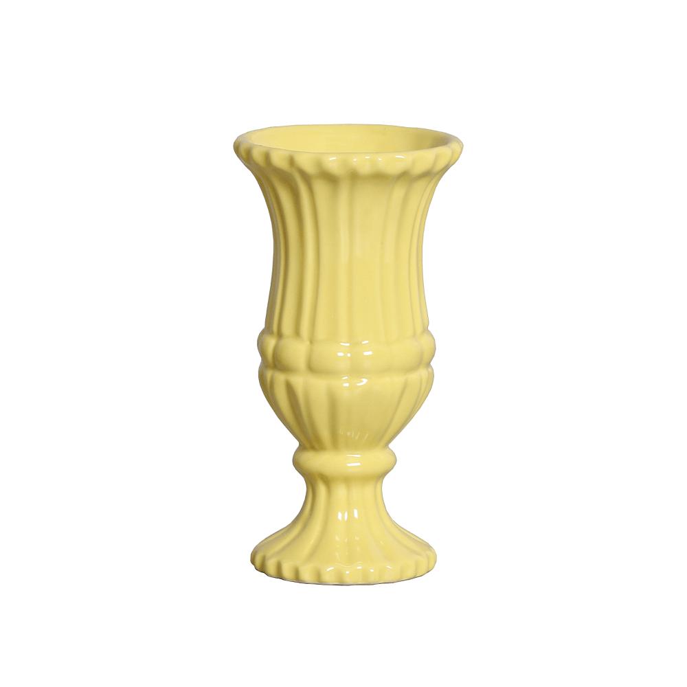 Vaso Grego Pequeno Amarelo