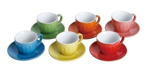 Jogo de Xícaras de Café Coloridas Linha Colors com 6 Peças Class Home