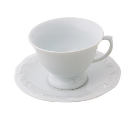 Xícara de Chá de Porcelana com Pires Pomedore Schmidt