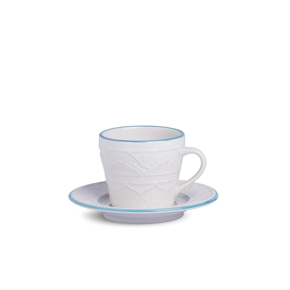 Xícara de Chá com Pires Linha Sky Oxford