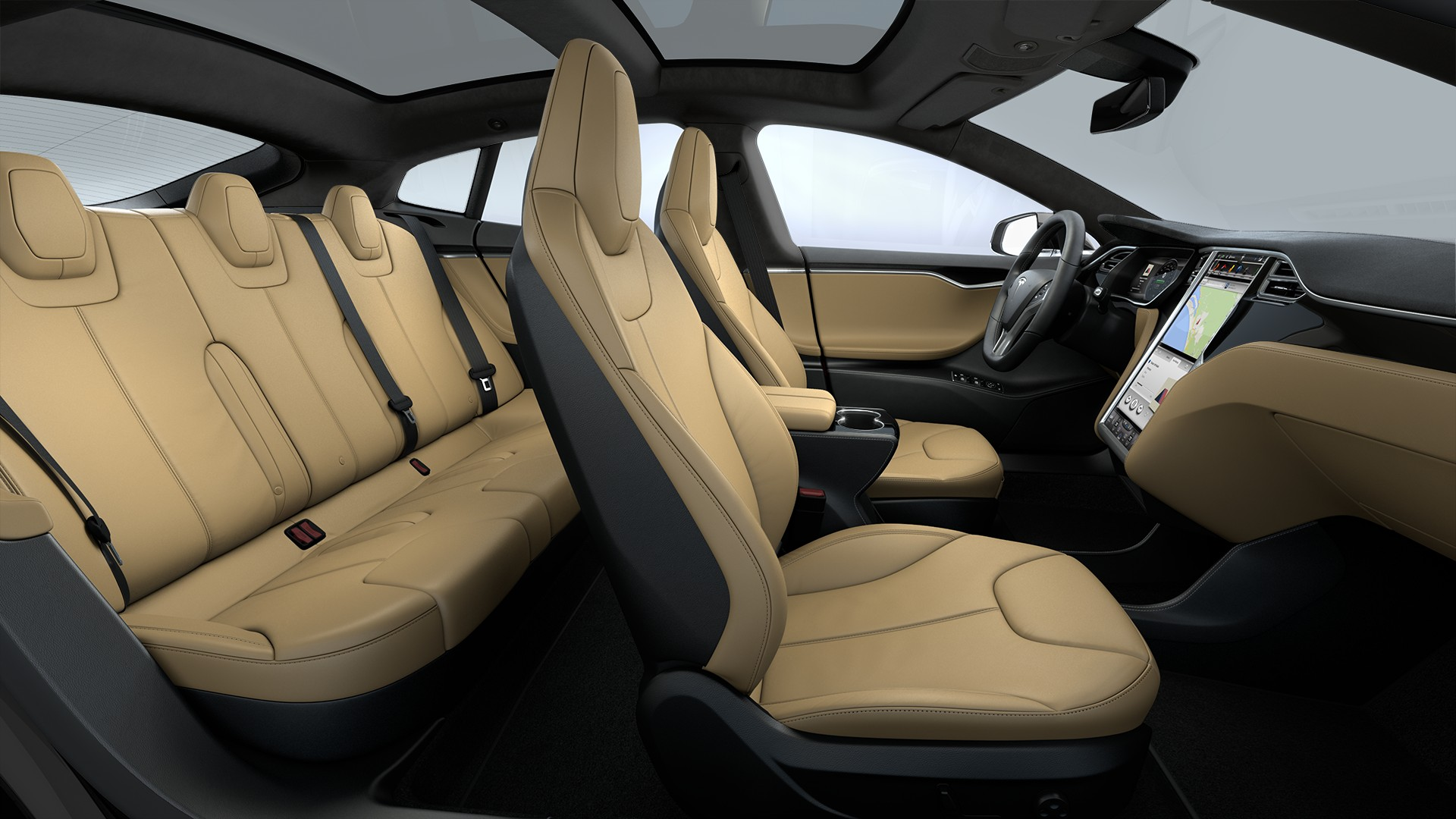 Interieur Tan Leather Seats Piano Black Decor Black Alcantara Headliner Alcantara Dashboard Accents