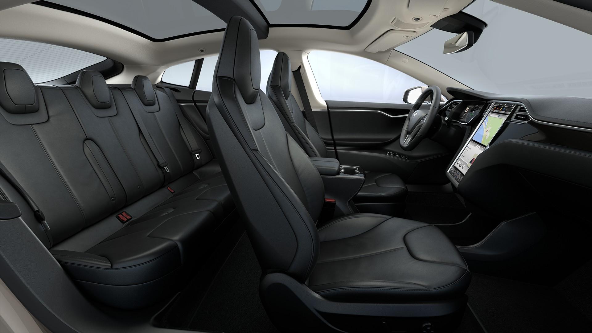 Interieur Black Nappa Leather Seats Piano Black Decor Standard Textile Headliner