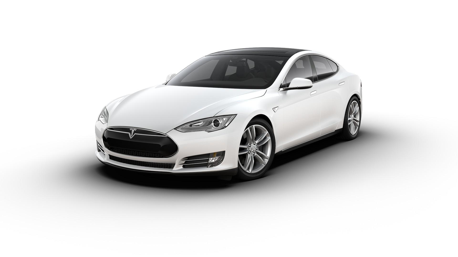 tesla model s 85 White