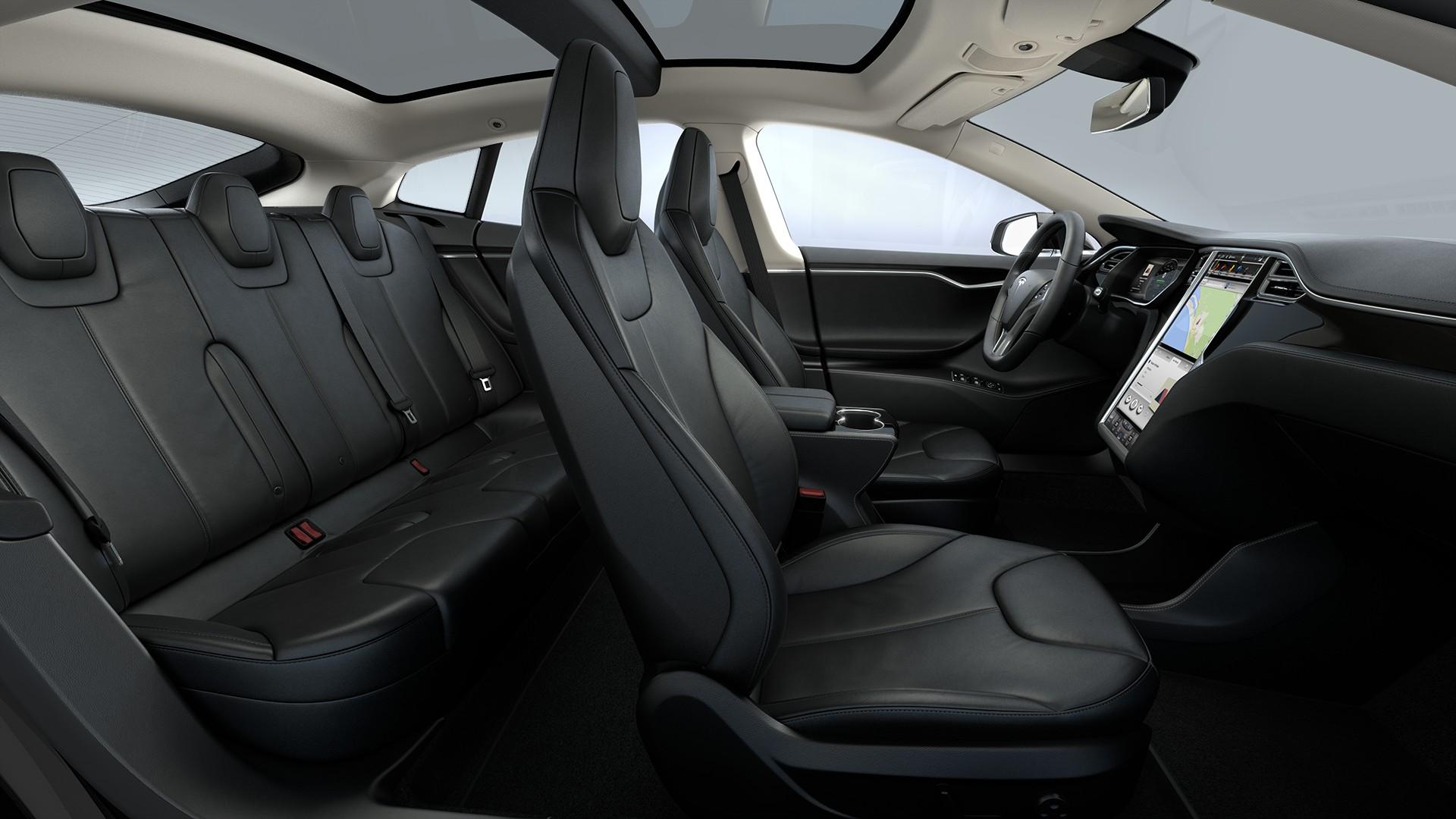 Interieur Rear Facing Seats Black Nappa Leather Seats Piano Black Decor Standard Textile Headliner