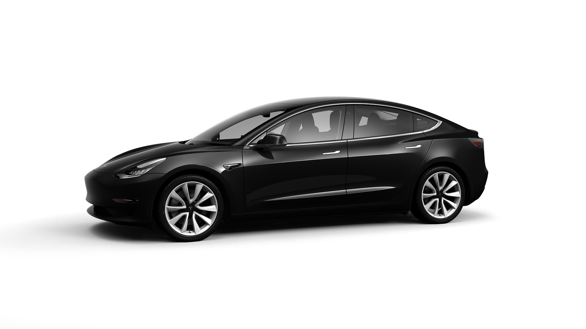 inventory tesla model 3 long-range dual motor awd Solid Black