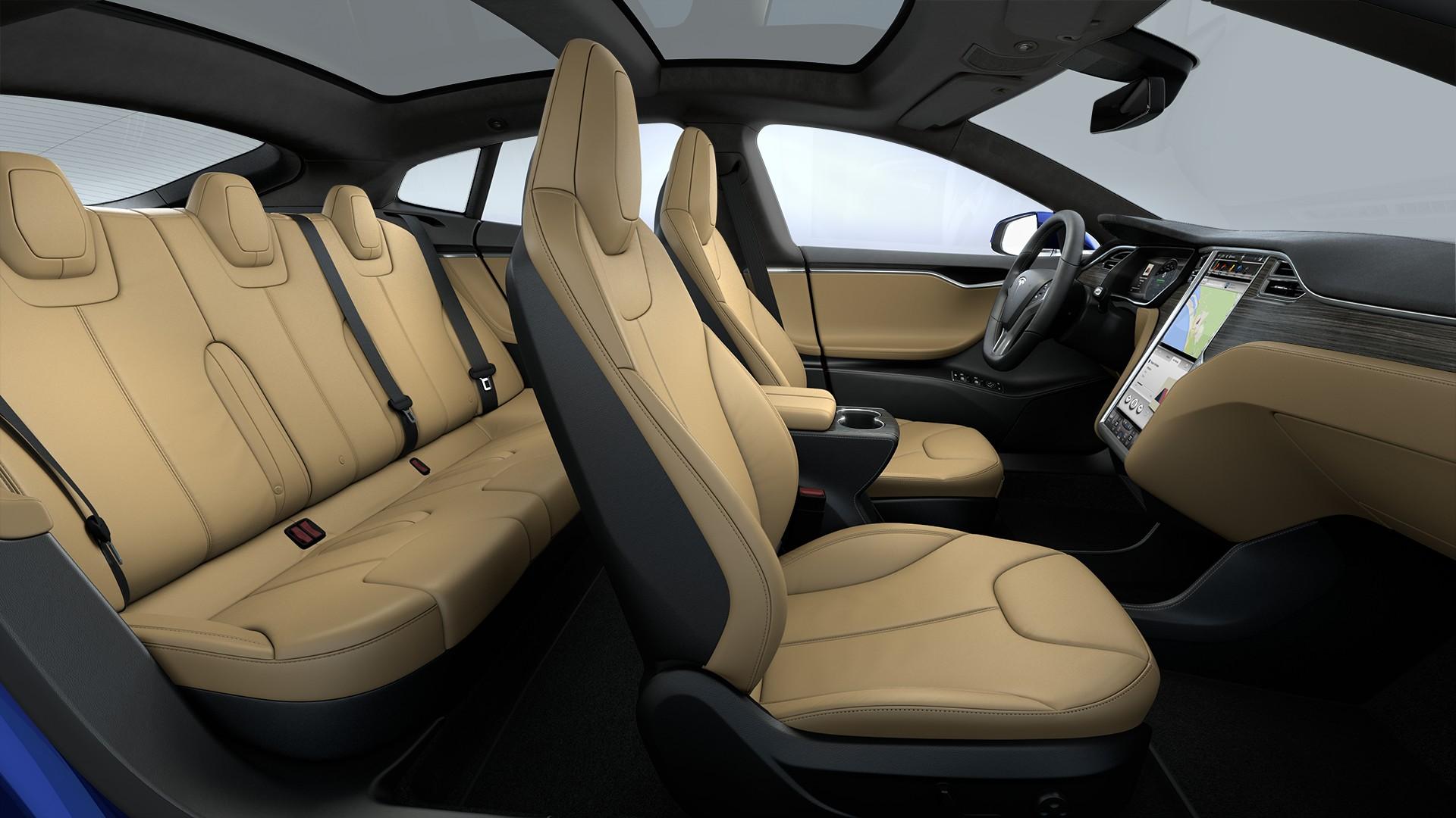Interieur Matte Obeche Wood Decor Extended Nappa Leather Trim Black Alcantara Headliner Alcantara Dashboard Accents