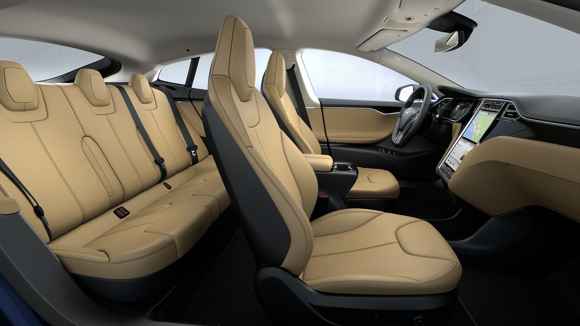 Interieur Tan Leather Seats Piano Black Decor Standard Textile Headliner
